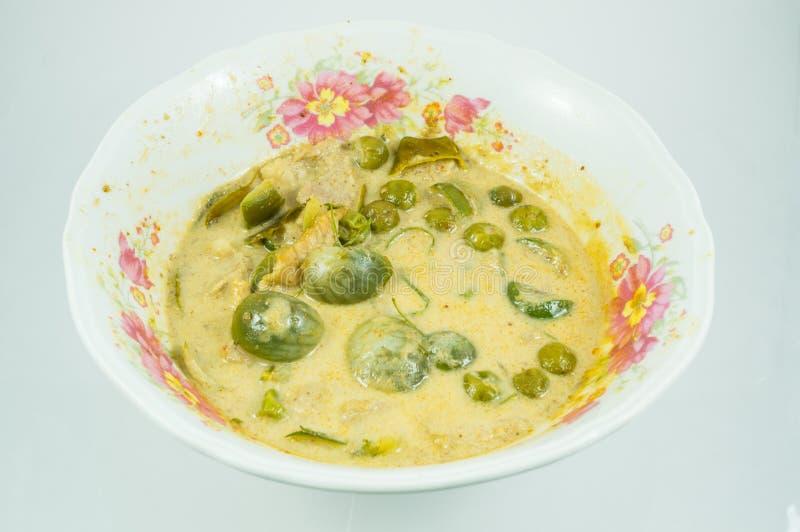 Суп цыпленка карри зеленого цвета еды Таиланда интенсивный стоковое изображение