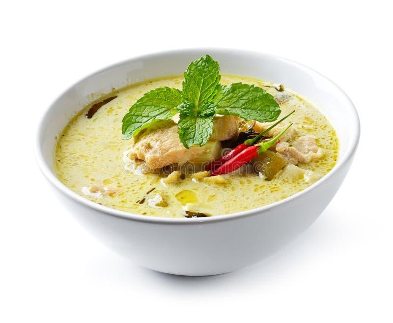 Суп цыпленка карри интенсивный стоковые изображения