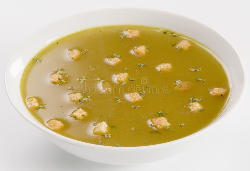 суп чеснока croutons стоковое фото