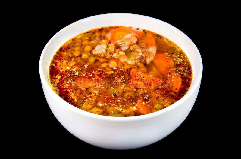 суп чечевицы стоковое фото