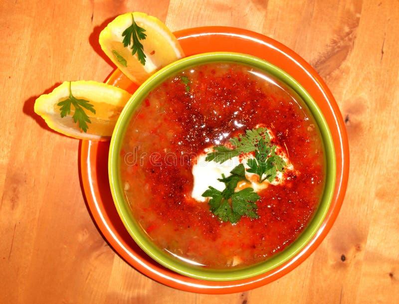 суп чечевицы стоковые изображения rf