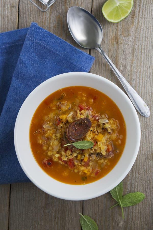 Суп чечевицы стоковое фото rf