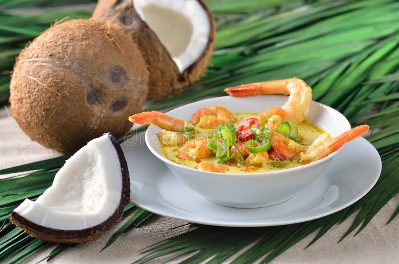 Суп шримсов стоковое изображение rf