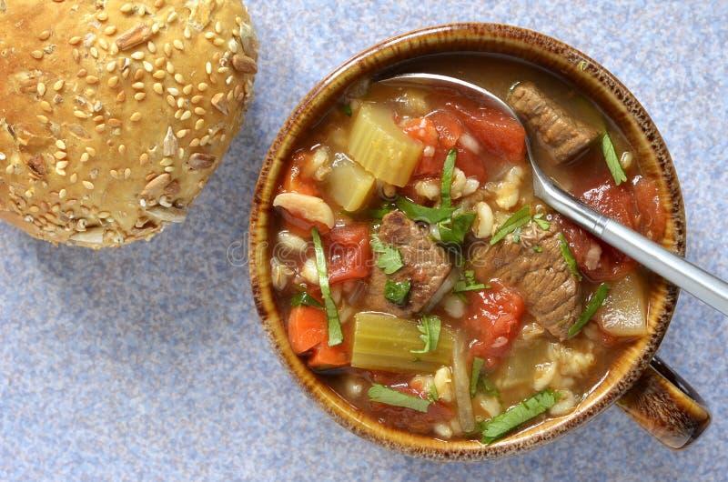 Суп ячменя говядины стоковое изображение