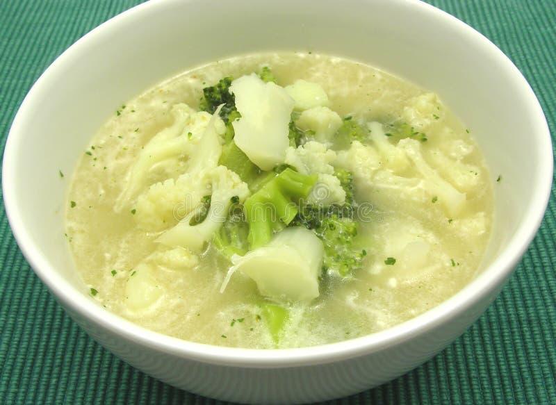 суп cauliflower брокколи стоковая фотография