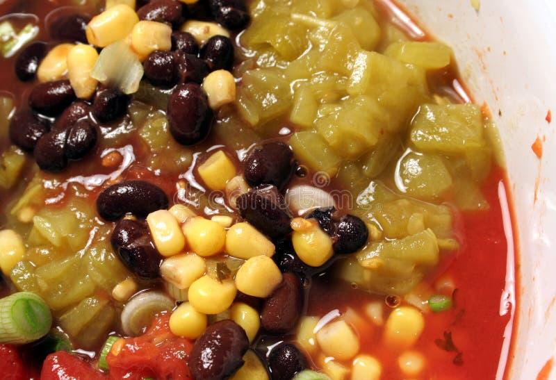 суп chili пряный стоковое изображение