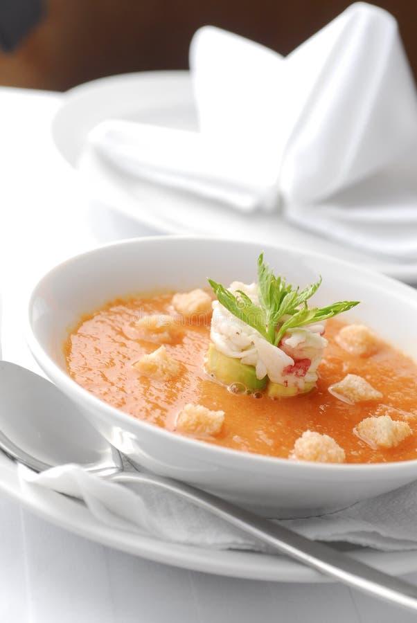 суп gazpacho стоковое изображение rf