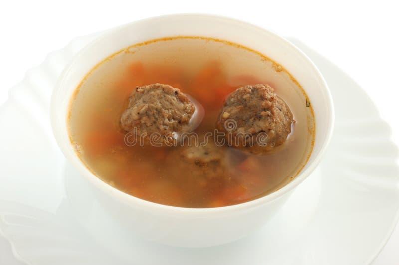 суп meatballs стоковые фото