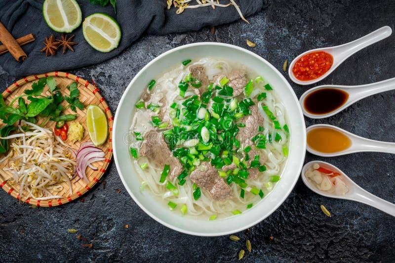 Суп Pho Bo стоковая фотография