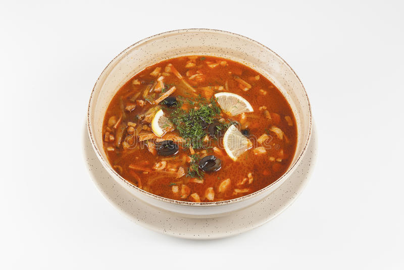 суп solyanka стоковое фото