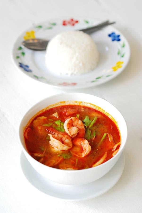 Суп Tom Yum стоковое изображение rf