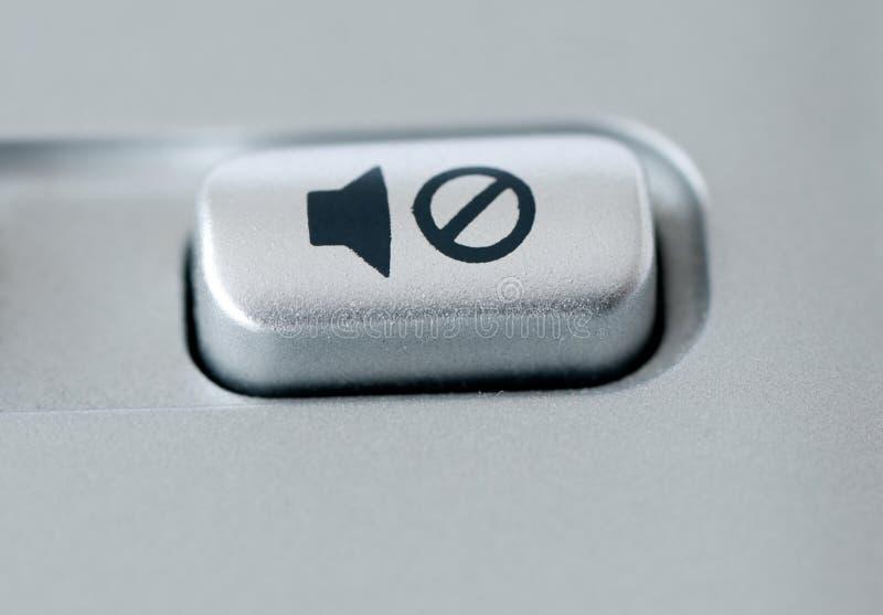сурдинка кнопки стоковое изображение