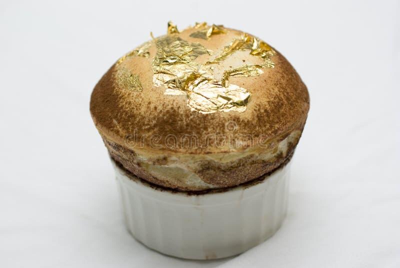 суфле листового золота стоковое фото
