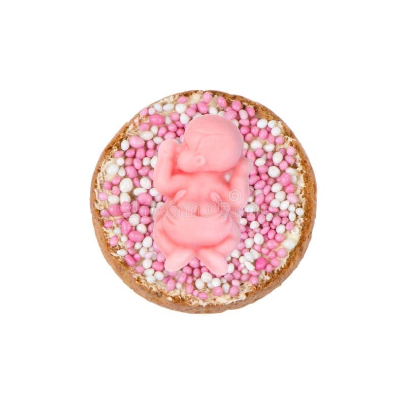 Сухарь с розовыми мышами для девушки стоковая фотография rf