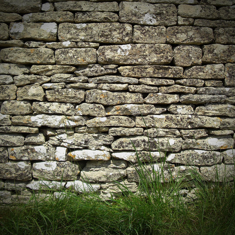 сухая каменная стена стоковое фото rf