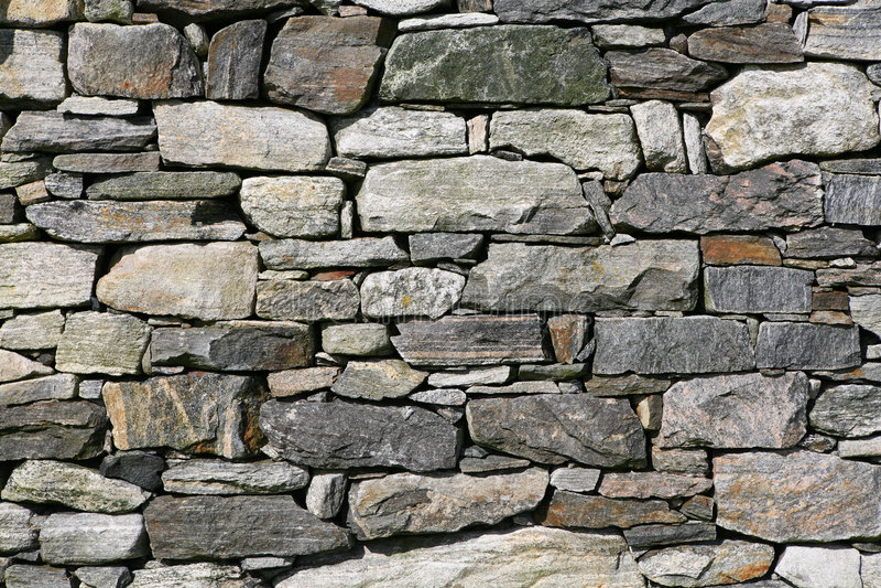 сухая каменная стена стоковое фото