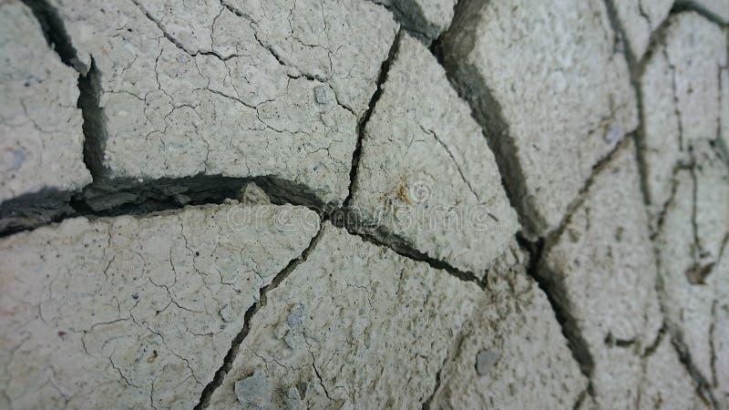 Сухая треснутая земля пустыни стоковая фотография rf