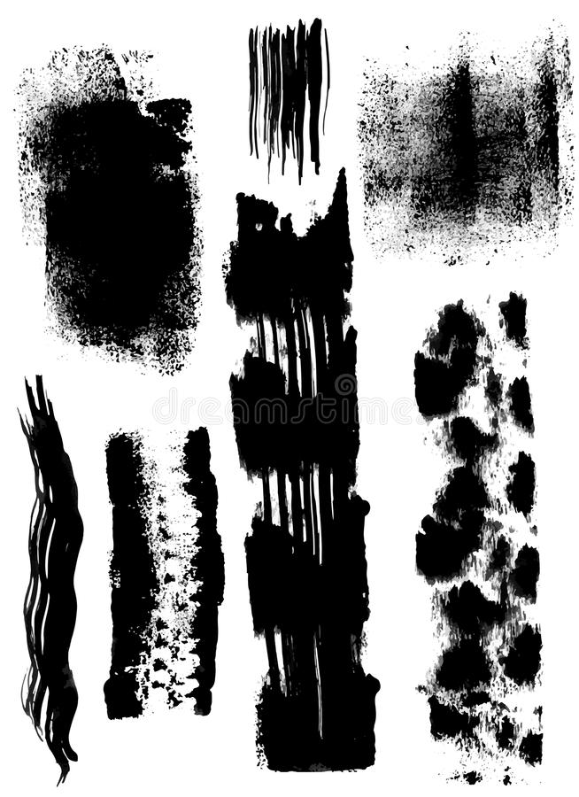 Сухие мазки щетки иллюстрация штока