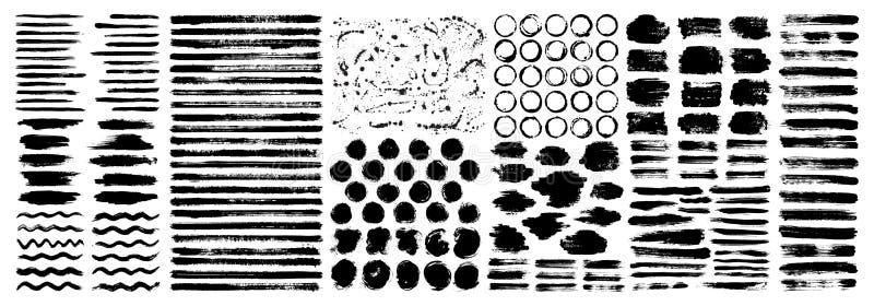 Сухие пятна краски чистят набор щеткой предпосылок хода бесплатная иллюстрация