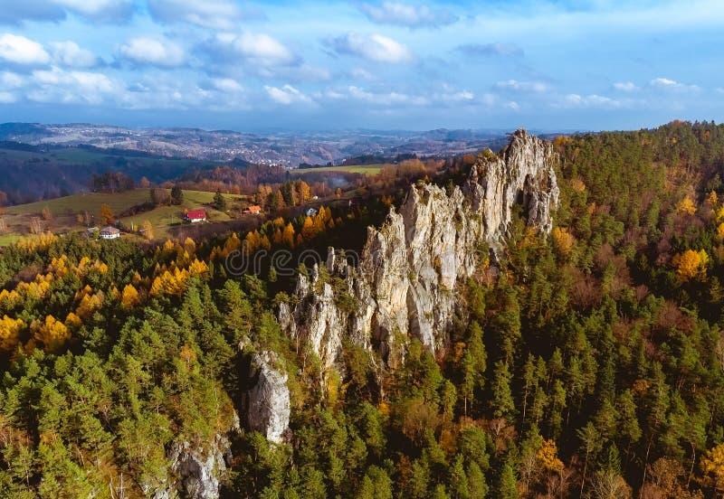 Сухие скалы в Рай Богемии стоковые фото