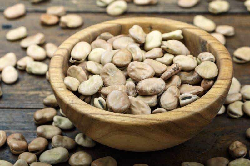 Сухие фасоли в плите стоковое фото