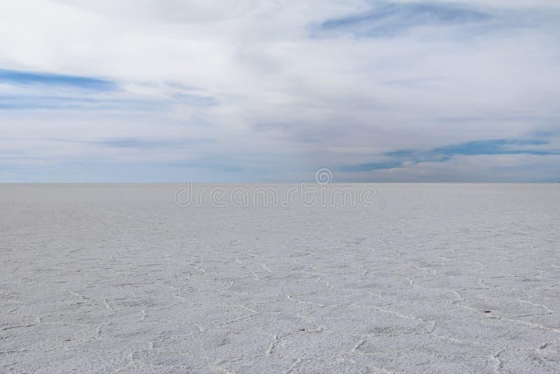 Сухое соль Салара de Uyuni плоское - отдел Potosi, Боливия стоковое изображение