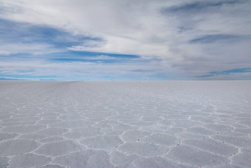 Сухое соль Салара de Uyuni плоское - отдел Potosi, Боливия стоковое фото rf