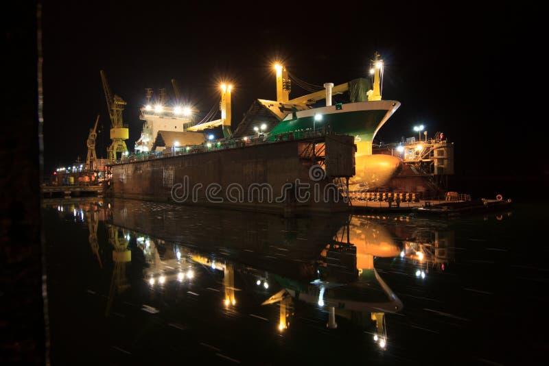Сухой состыкованный корабль стоковые изображения rf