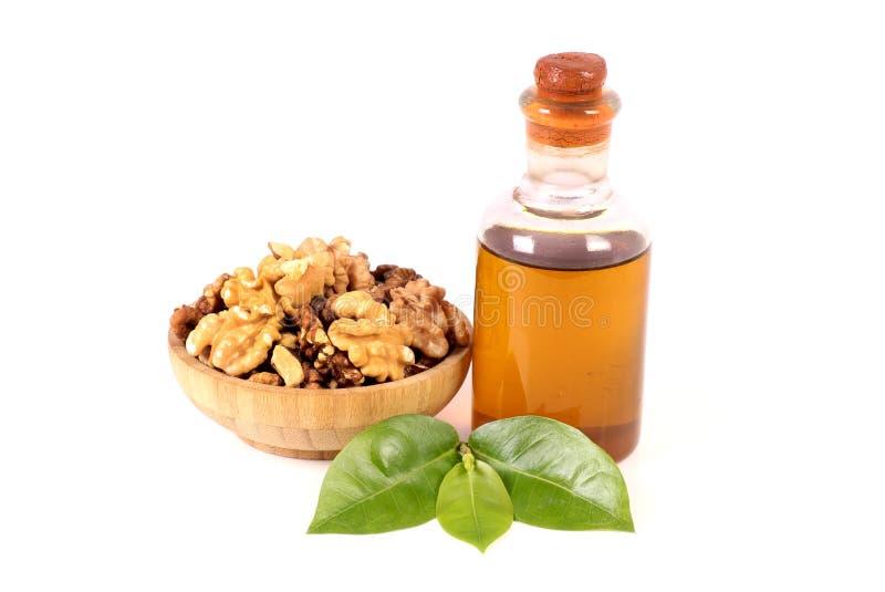 Сух-плоды и масло стоковое фото