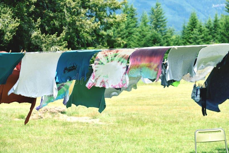 сушить одежд стоковые фотографии rf