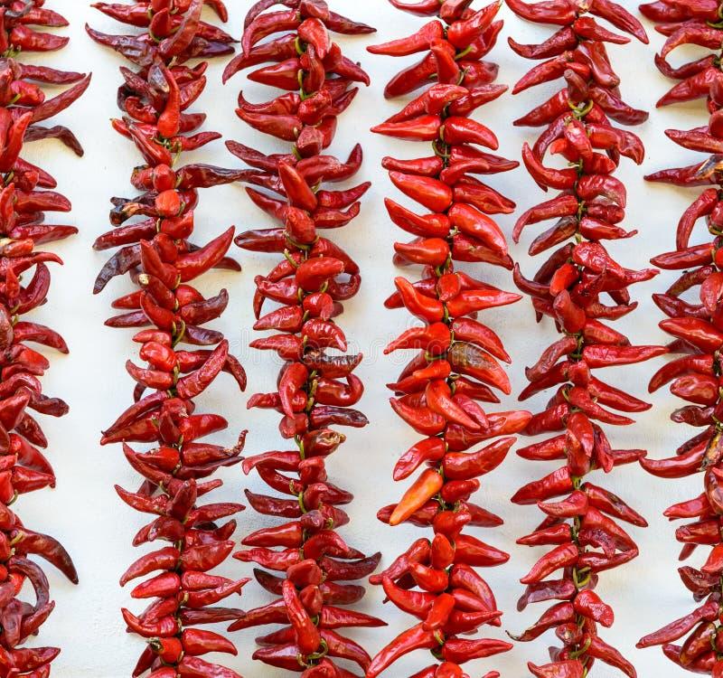 Сушить перцев чилей Espelette стоковое изображение