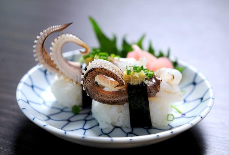 суши кальмара стоковая фотография
