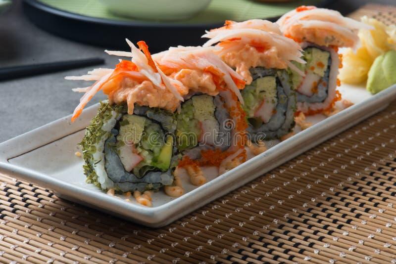 Суши крена салата омара стоковая фотография