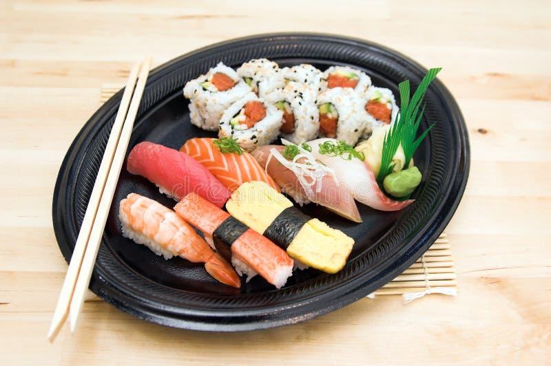 суши плиты стоковая фотография rf