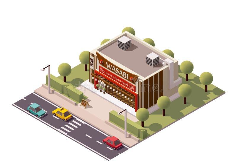 Суши-ресторан вектора равновеликий бесплатная иллюстрация