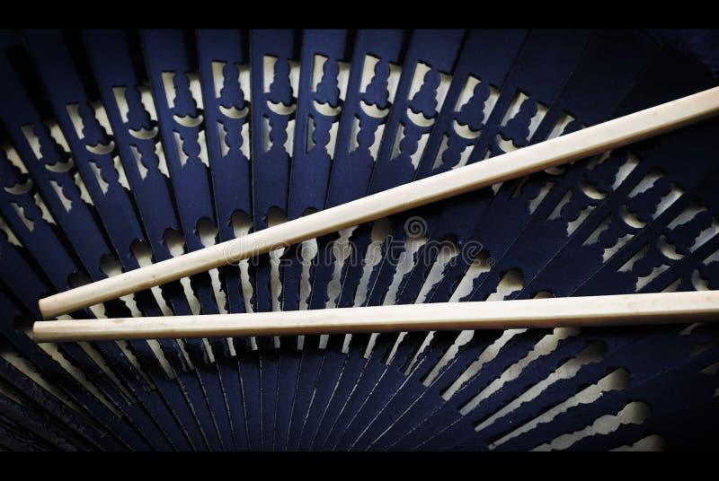 суши ручек азиатского вентилятора установленные стоковые изображения