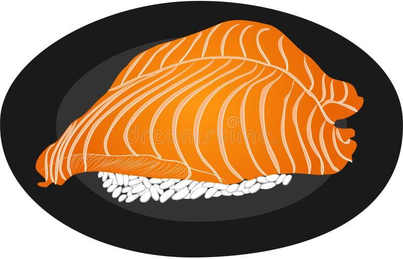 Суши семг и риса бесплатная иллюстрация