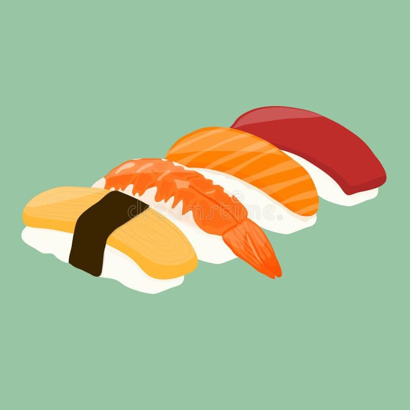 суши серии nigiri еды стоковые фотографии rf