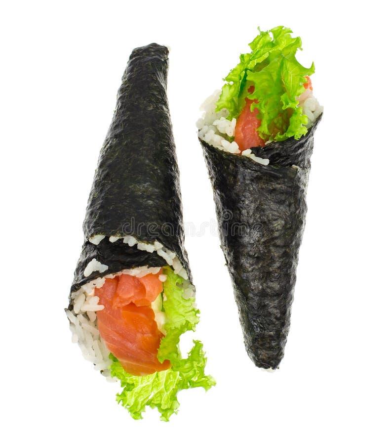 Суши с семгами конуса стоковое фото rf
