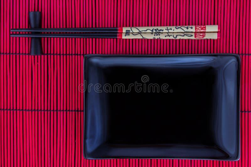Download Суши установленные с черной плитой Стоковое Фото - изображение насчитывающей ashurbanipal, палочки: 40586968