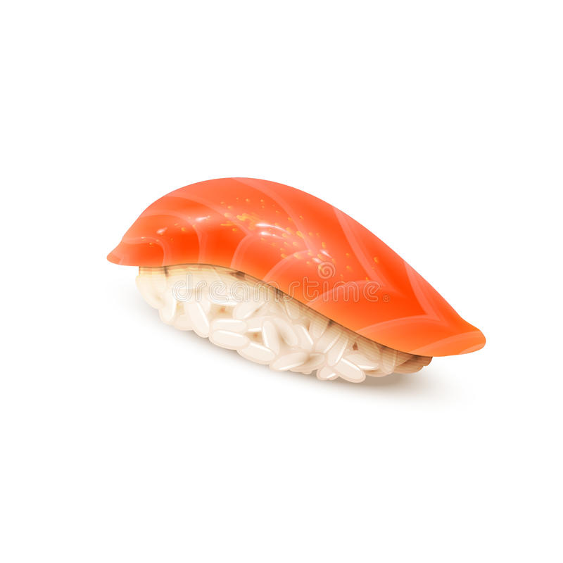 Суши, японская кухня, изолированная на белизне бесплатная иллюстрация