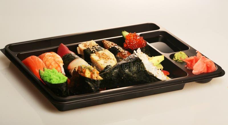 суши японца установленные традиционные стоковые фото