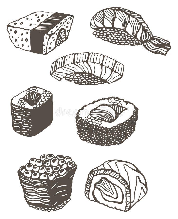 Суши бесплатная иллюстрация