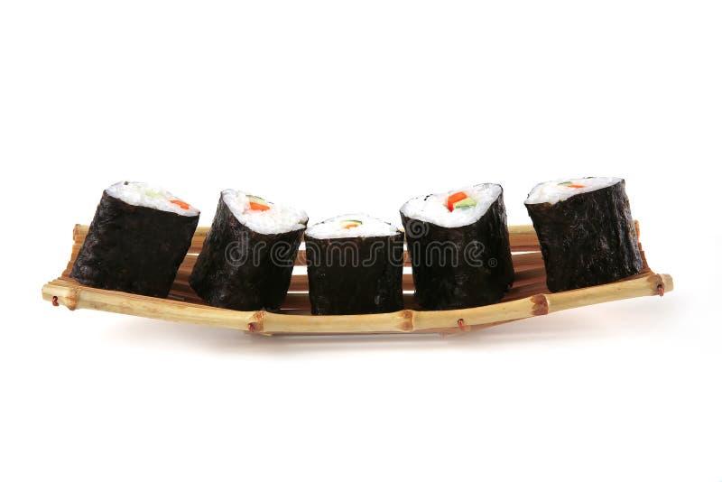суши bamboo шлюпки малые стоковые фото