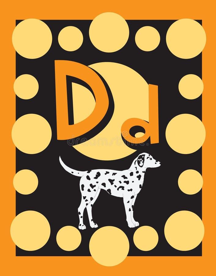 существительные письма карточки d внезапные бесплатная иллюстрация