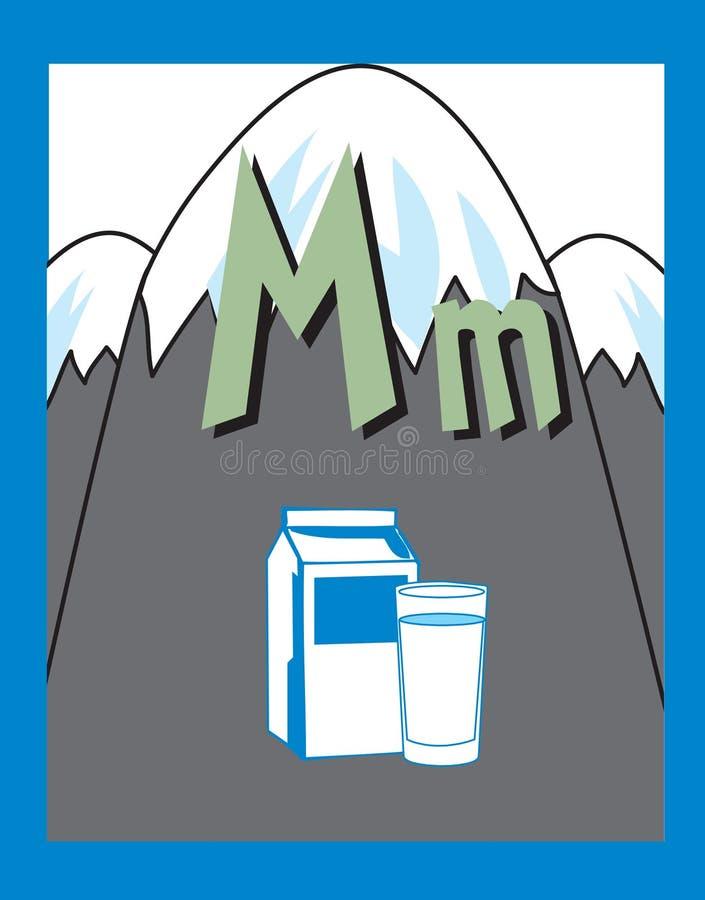существительные письма m карточки внезапные иллюстрация вектора