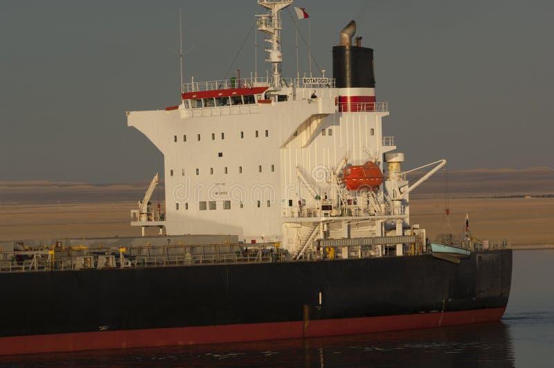 СУЭЦ CANAL/EGYPT - 3-ье января 2007 - судно-сухогруз Botafogo стоковые изображения