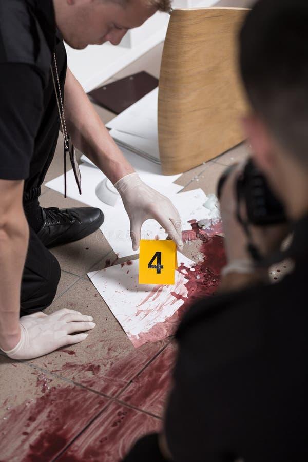 судебнохимическая работа научного работника стоковая фотография