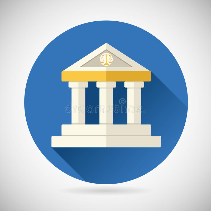 Суд, правосудие символа дома банка музея, иллюстрация штока
