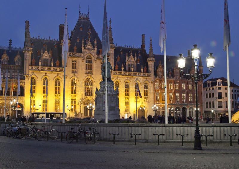 Суд рынка Брюгге захолустный стоковое изображение rf
